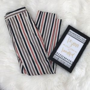 Zara Pinstripe Pants Size Small. Multi color